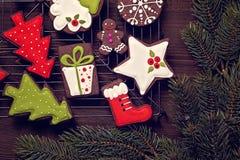 Chocolate christmas cookies Royalty Free Stock Photo
