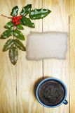 Chocolate Christmas pudding Stock Images