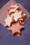 Chocolate christmas star coockies Stock Photography