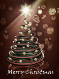 Chocolate christmas tree. Abstract chocolate christmas tree on a brown background Stock Images