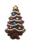 Chocolate Christmas Tree. Isolated on white Royalty Free Stock Photos