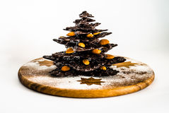 Chocolate christmas tree Royalty Free Stock Photo