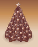 Chocolate christmas tree Royalty Free Stock Photography