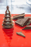 Chocolate Christmas Trees Stock Images