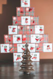 Chocolate Christmas Trees Royalty Free Stock Photo