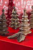 Chocolate Christmas Trees Royalty Free Stock Photography