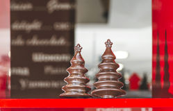 Chocolate Christmas Trees Royalty Free Stock Images