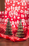 Chocolate Christmas Trees Stock Photo