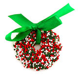 Chocolate Christmas wreath Royalty Free Stock Images