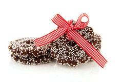Chocolate Christmas wreaths Stock Photography