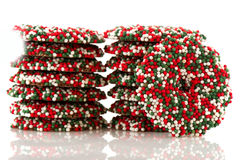 Chocolate Christmas wreaths Royalty Free Stock Image