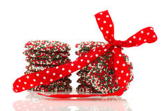 Chocolate Christmas wreaths Royalty Free Stock Photo