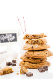 Chocolate chunk cookies Royalty Free Stock Photography