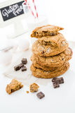 Chocolate chunk cookies Stock Photos