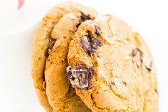Chocolate chunk cookies Stock Photo
