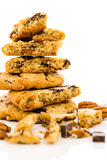 Chocolate chunk cookies with toasted pecans Royalty Free Stock Photography