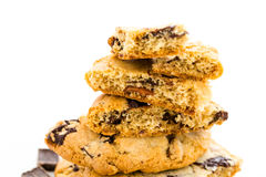 Chocolate chunk cookies with toasted pecans Stock Photos