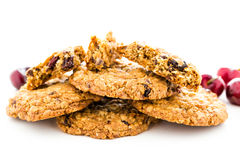 Chocolate chunk cookies with toasted pecans Royalty Free Stock Photos