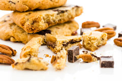 Chocolate chunk cookies with toasted pecans Stock Images