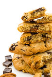 Chocolate chunk cookies with toasted pecans Stock Photo