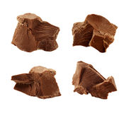 Chocolate Chunks isolated Stock Images