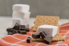 Chocolate Chunks with Marshmallow and Graham Royalty Free Stock Photos