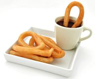 Chocolate and churros Royalty Free Stock Photo