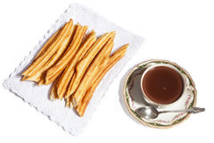 Chocolate with churros Stock Image