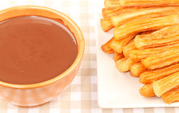Chocolate with Churros Royalty Free Stock Images