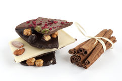 Chocolate and cinnamon Stock Photos