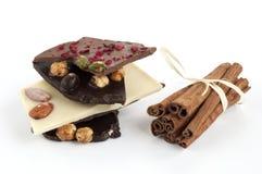 Chocolate and cinnamon Stock Photos