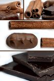 Chocolate and cinnamon Royalty Free Stock Images