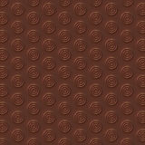 Chocolate circles abstract surface pattern. 3d rendering Royalty Free Stock Photography