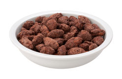 Chocolate Coated Almonds Royalty Free Stock Image