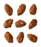 Chocolate Coated Almonds Royalty Free Stock Images