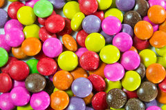 Chocolate coated candy Stock Photo