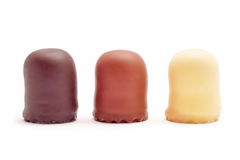 Chocolate coated marshmallow Royalty Free Stock Photography