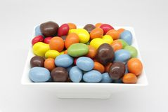 Chocolate coated peanuts Stock Photo