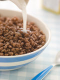Chocolate coated Puffed Rice Cereal Stock Photo