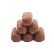 Chocolate coated toffee candy isolated Royalty Free Stock Photo