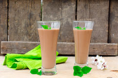 Chocolate cocktail Stock Images