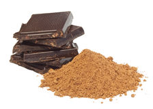 Chocolate and cocoa Royalty Free Stock Images