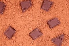 Chocolate, for cocoa background Royalty Free Stock Images