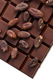 Chocolate and cocoa beans Royalty Free Stock Image