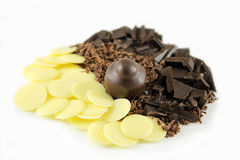 Chocolate and cocoa butter Royalty Free Stock Photography