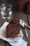 Chocolate and cocoa cake Royalty Free Stock Photography