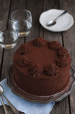 Chocolate and cocoa cake Stock Images