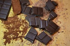 Chocolate cocoa. Dessert on the table Royalty Free Stock Photo