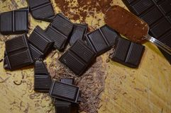 Chocolate cocoa. Dessert on the table Stock Images