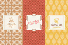 Chocolate and cocoa packaging Royalty Free Stock Photography